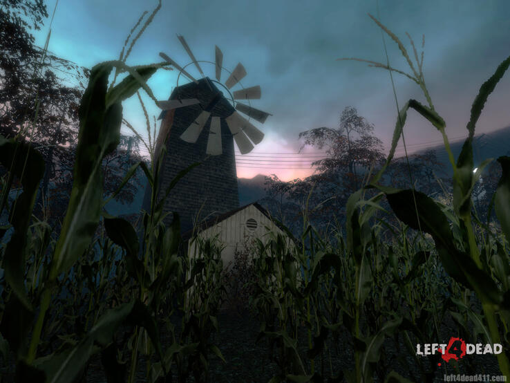 cornfield windmill